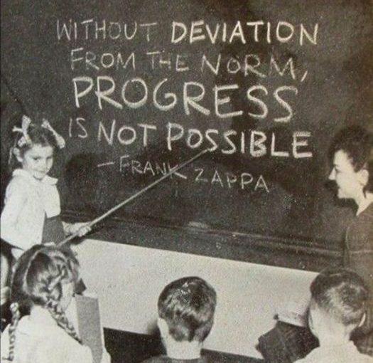التقدم ليس ممكناً من دون الإنحراف عن القاعدة